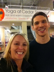 Sol Yoga instructor Andre Grandbois and I before class