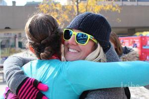 marathon hug